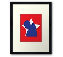 Captain Silhouette Framed Print