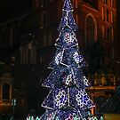 Christmas Tree in Krakow's Market Square on Christmas Eve by Robert Kelch, M.D.