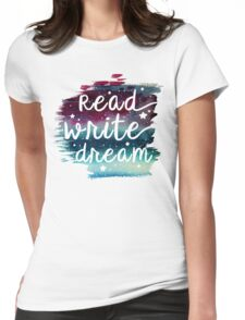 Read Write Dream Womens Fitted T-Shirt