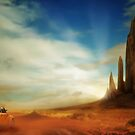 Desert Road by Cliff Vestergaard