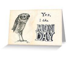 Sarcastic owl Greeting Card