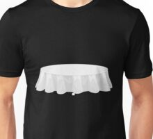 Glitch furniture table white tablecloth table Unisex T-Shirt