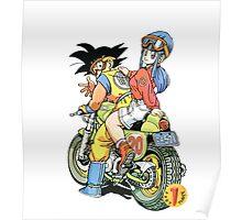 Goku and Bulma (Dragon Ball) Poster
