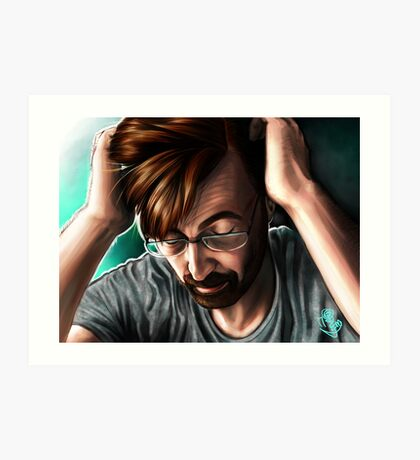"""""""People are Unknowable"""" Alec Hardy Broadchurch David Tennant Digital Painting Art Print"""
