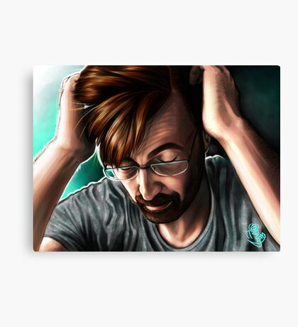 """""""People are Unknowable"""" Alec Hardy Broadchurch David Tennant Digital Painting Canvas Print"""