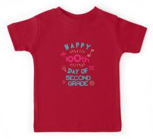 Happy 100th Day of Second Grade School 2nd Graders Kids Tee