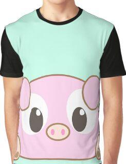 Cute #Chibu Piggy Graphic T-Shirt