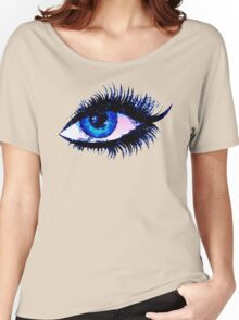 Digital watercolor female eye Women's Relaxed Fit T-Shirt