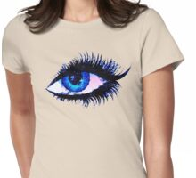 Digital watercolor female eye Womens Fitted T-Shirt