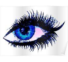 Digital watercolor female eye Poster