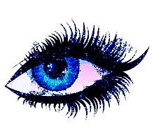 Digital watercolor female eye Photographic Print