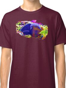 Wild Fishy Story By A Blue Fish Classic T-Shirt