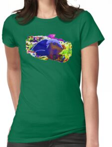 Wild Fishy Story By A Blue Fish Womens Fitted T-Shirt