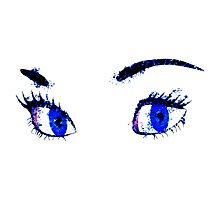 Digital watercolor female eyes Photographic Print