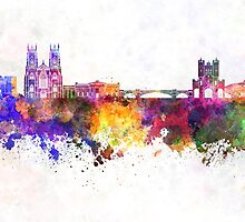 York skyline in watercolor background by paulrommer