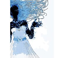 Watercolor girl silhouette Photographic Print