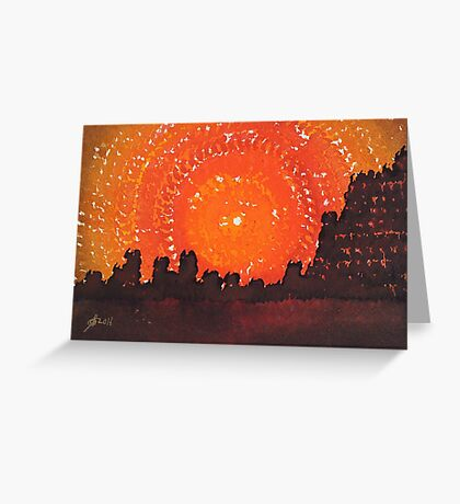 Desert Solstice original painting Greeting Card