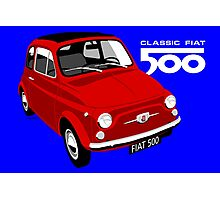 Classic Fiat 500 red Photographic Print