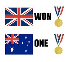 Great Britain Won, Australia One by DolceandBanana