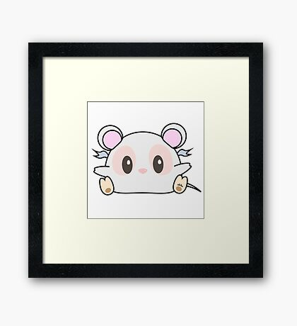 Mini #Chibu Adorable Mouse Framed Print