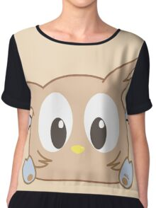 Baby Blue #Chibu Owl Chiffon Top