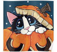 Peekaboo Pumpkin Poster