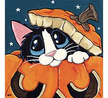 Peekaboo Pumpkin Photographic Print