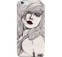 Debbie with Red Lips iPhone Case/Skin