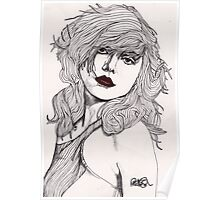 Debbie with Red Lips Poster