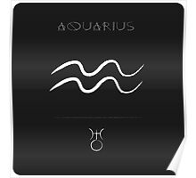 Zodiac astrology sign Aquarius Poster
