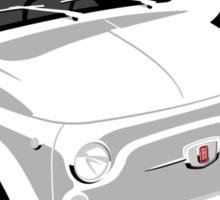 Classic Fiat 500 white Sticker