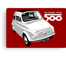 Classic Fiat 500 white Canvas Print