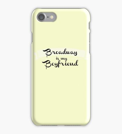 Broadway is my Boyfriend - Yellow iPhone Case/Skin
