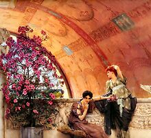 Unconscious Rivals By Sir Lawrence Alma-Tadema by Old-Time-Images