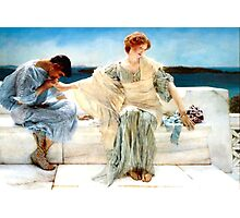 Ask me no more by Sir Lawrence Alma-Tadema Photographic Print