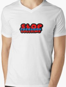 stop Facebook bullying t Mens V-Neck T-Shirt