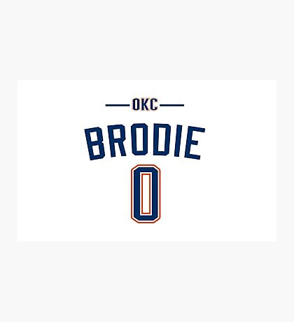 Russell Westbrook - Brodie Photographic Print