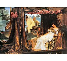 Antony and Cleopatra 1883 Sir lawrence Alma-Tadema Photographic Print