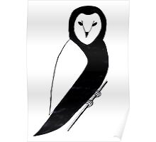 ink owl Poster