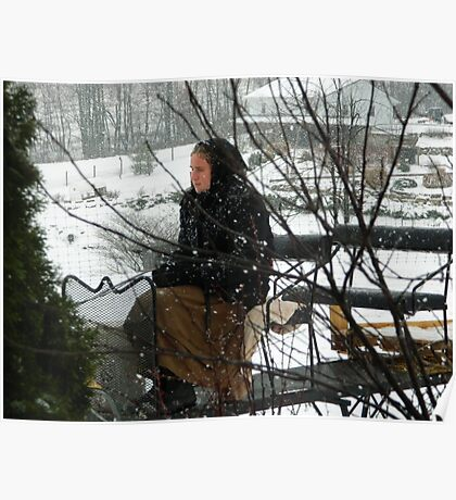 Amish Driving the Sleigh Poster