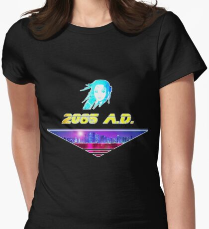 2085 A.D. V2 Womens Fitted T-Shirt