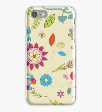 Spring Colorful Flower Pattern  iPhone Case/Skin