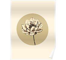 vintage flower. Poster