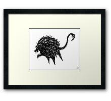 The Fury (Black on White) Framed Print
