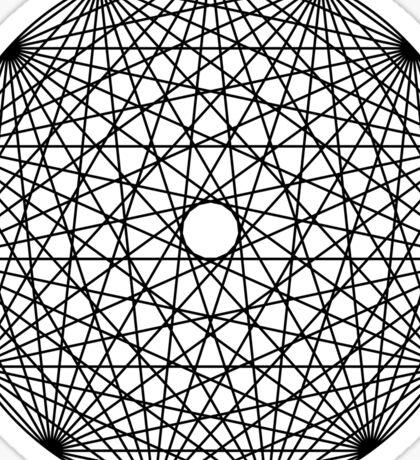 Line Mandala Sticker