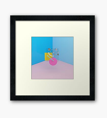 Postmodern race Framed Print