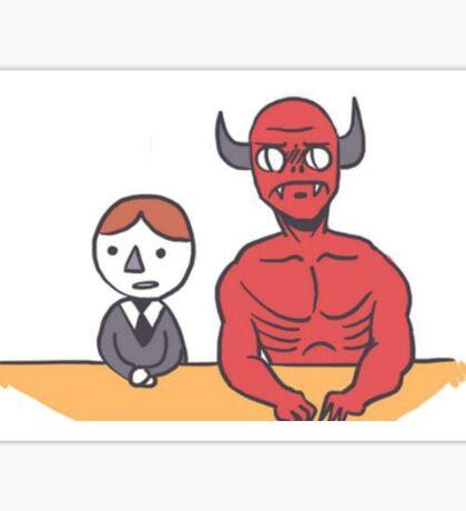 Devil's advocate Sticker