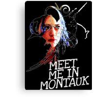 Meet Me In Montauk T-Shirt Canvas Print
