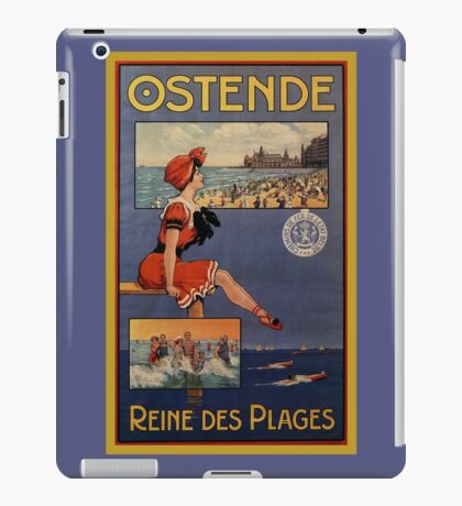 Vintage Ostend Summer beach travel bathing beauty iPad Case/Skin