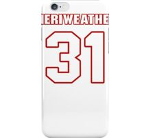 NFL Player Brandon Meriweather thirtyone 31 iPhone Case/Skin